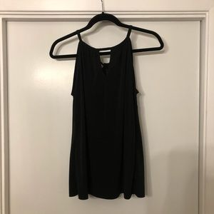 Tops - Black tank with tie knot